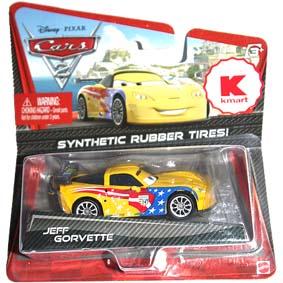 Kmart Carros 2 Brinquedos Cars II Disney Pixar Jeff Gorvette (pneu de borracha)