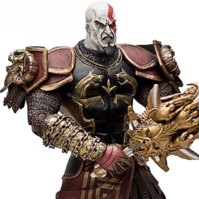 Kratos Armored - God of War 2 Armadura (boca aberta) Neca action figure (ABERTO)