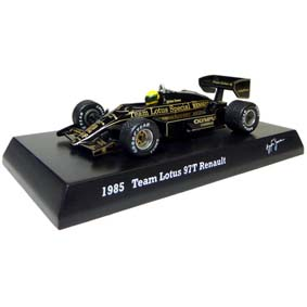 Kyosho F1 Ayrton Senna Collection Team (1985) Lotus 97T Renault escala 1/64