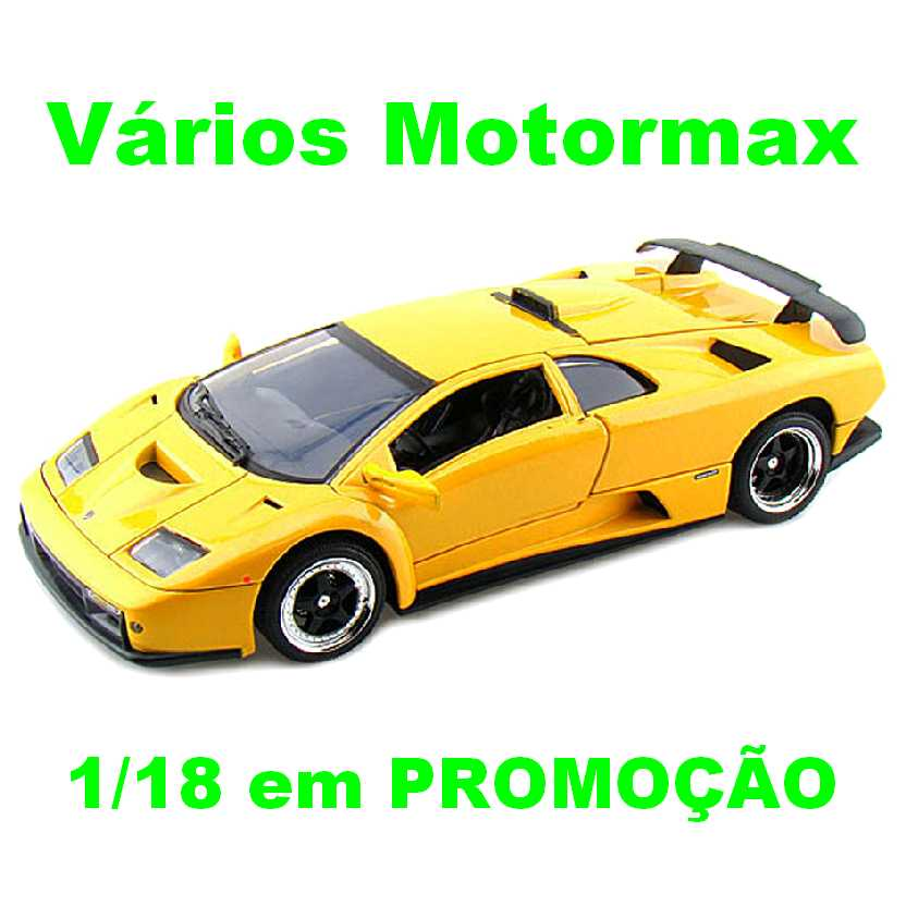 Lamborghini Diablo GT marca Motor Max escala 1/18 miniatura de carro esportivo