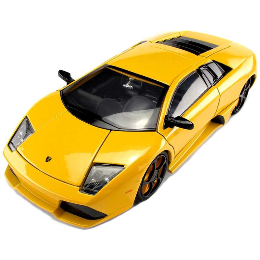 Lamborghini Murcielago LP640 amarela marca Jada Toys escala 1/24