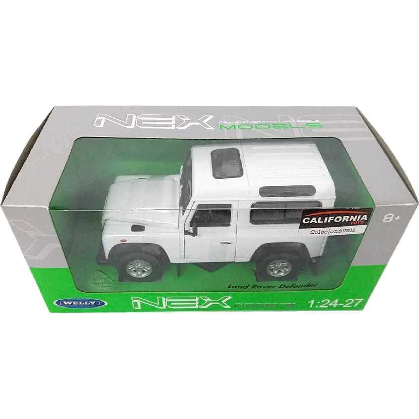 Land Rover Defender branco (Welly) escala 1/24