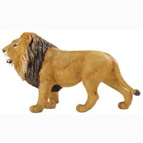 Leão pintado a mão (miniaturas de animais Safari) 111289