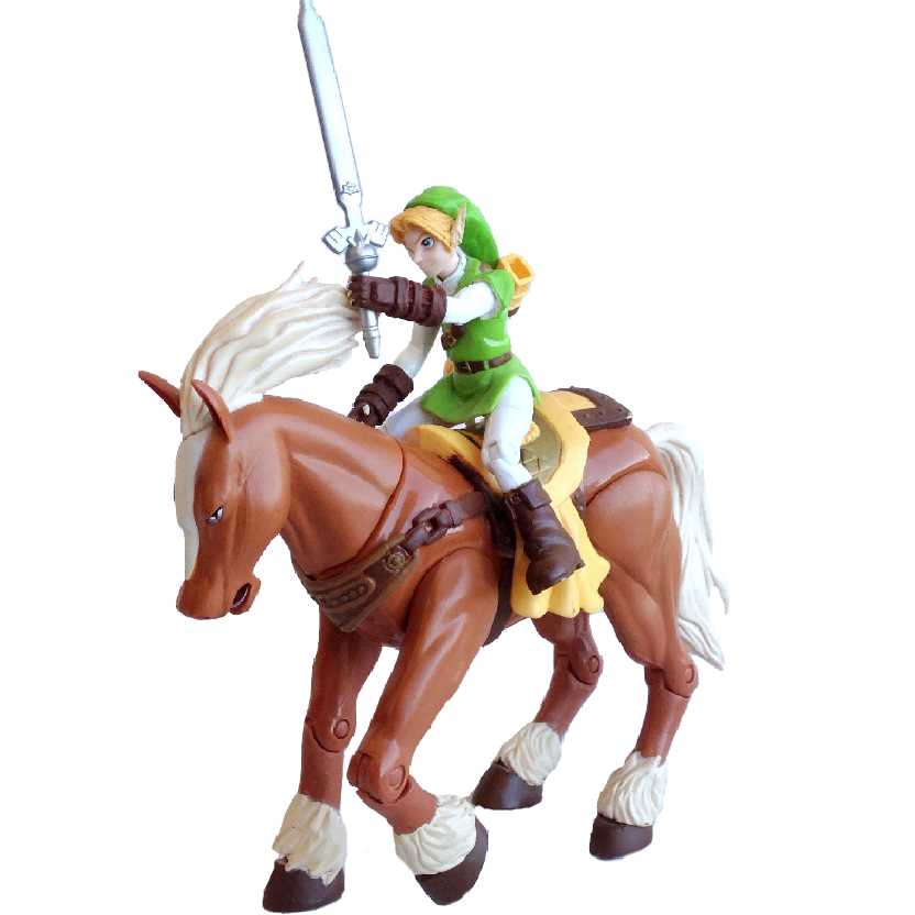 Legend Of Zelda Link + Epona Nintendo Action Figure Toy Biz Ocarina Of Time (aberto)