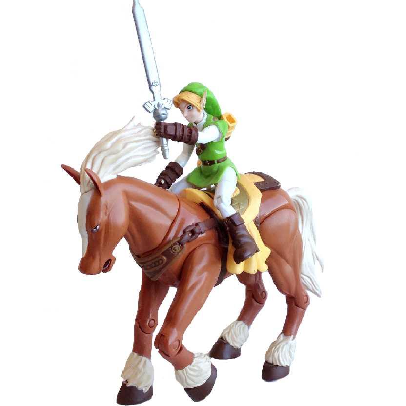 Legend Of Zelda Link + Epona Nintendo Action Figure Toy Biz Ocarina Of Time (aberto)