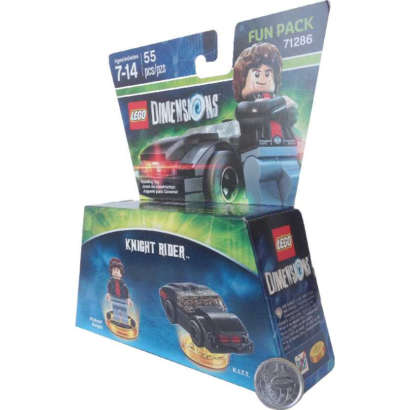 Lego Dimensions Super Máquina Knight Rider KITT Michael Knight David Hasselhoff 71286