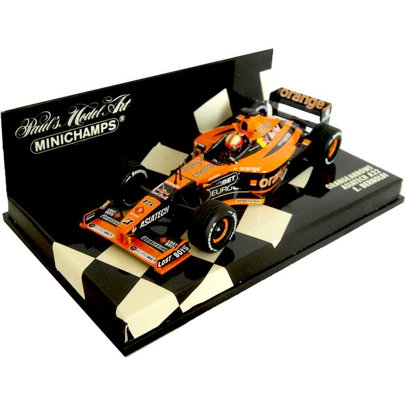Lendas Brasileiras do Automobilismo A22 Orange Arrows Enrique Bernoldi 2001 escala 1/43