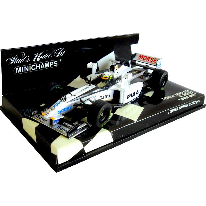 Lendas Brasileiras do Automobilismo Minichamps 026 Tyrrell Ford Ricardo Rosset (1998)