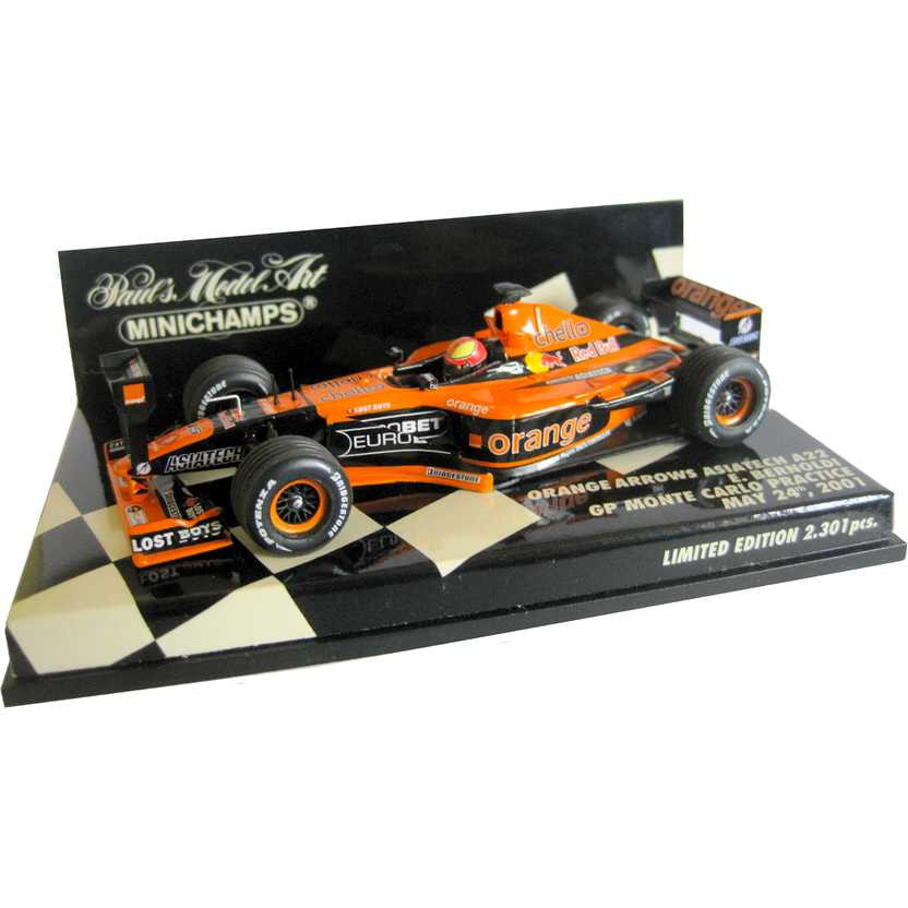 Lendas Brasileiras do Automobilismo Minichamps A22 Orange Arrows Enrique Bernoldi (2001)