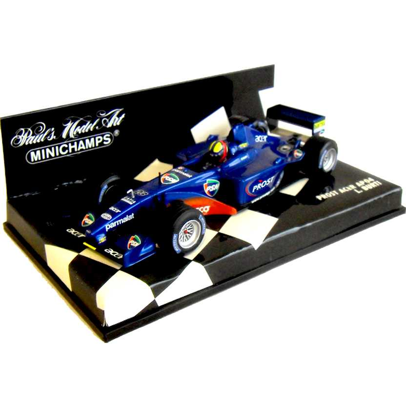 Lendas Brasileiras do Automobilismo Minichamps AP04 Prost Acer Luciano Burti (2001)