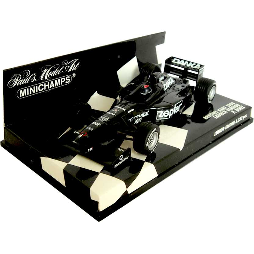 Lendas Brasileiras do Automobilismo Minichamps Arrows Hart Pedro Diniz (1998) escala 1/43