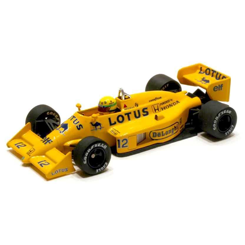 Lendas Brasileiras do Automobilismo Minichamps Ayrton Senna Lotus Renault 99T (1987)