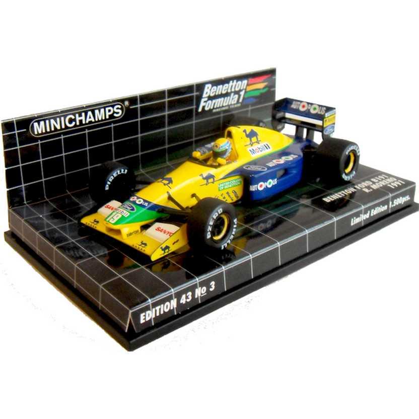 Lendas Brasileiras do Automobilismo Minichamps B191 Benetton Roberto Pupo Moreno (1991)