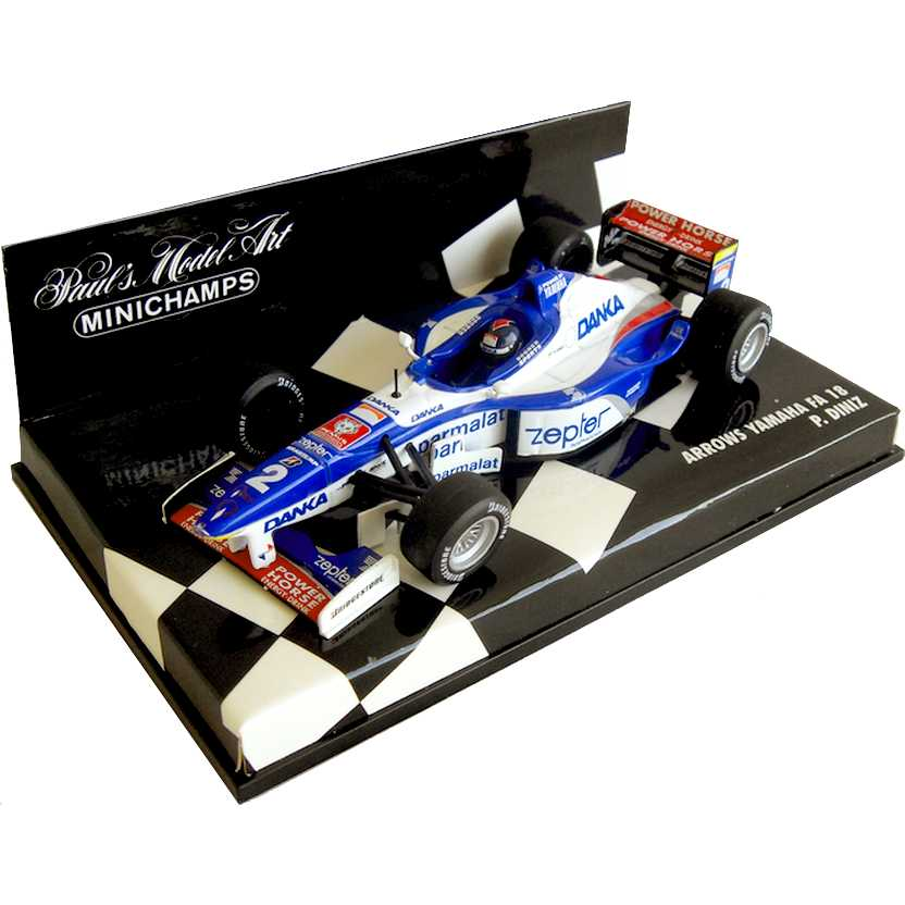 Lendas Brasileiras do Automobilismo Minichamps FA18 Arrows Yamaha Pedro Diniz (1997)