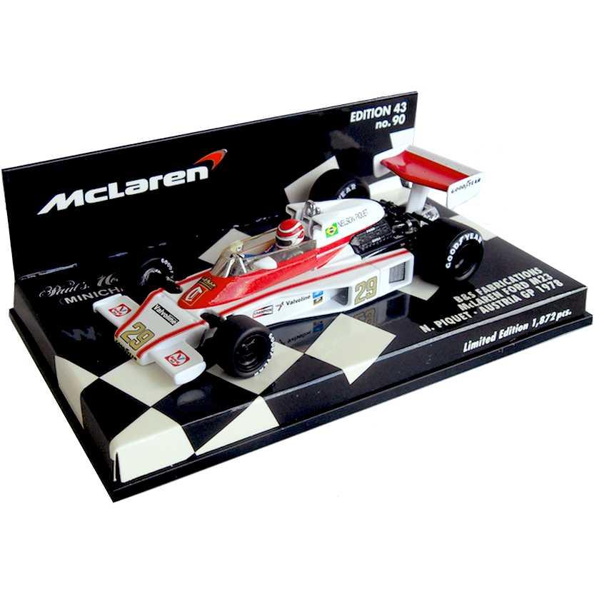 Lendas Brasileiras do Automobilismo Minichamps Ford M23 McLaren Nelson Piquet (1978)