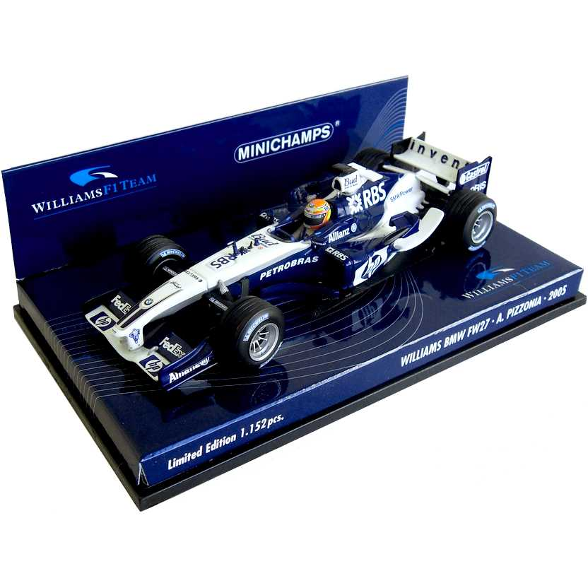 Lendas Brasileiras do Automobilismo Minichamps FW27 Williams BMW Antonio Pizzonia (2005)