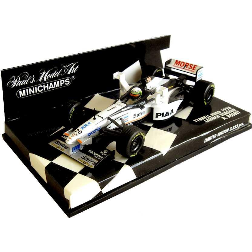 Lendas Brasileiras do Automobilismo Minichamps Launch Tyrrell Ford Ricardo Rosset (1998)