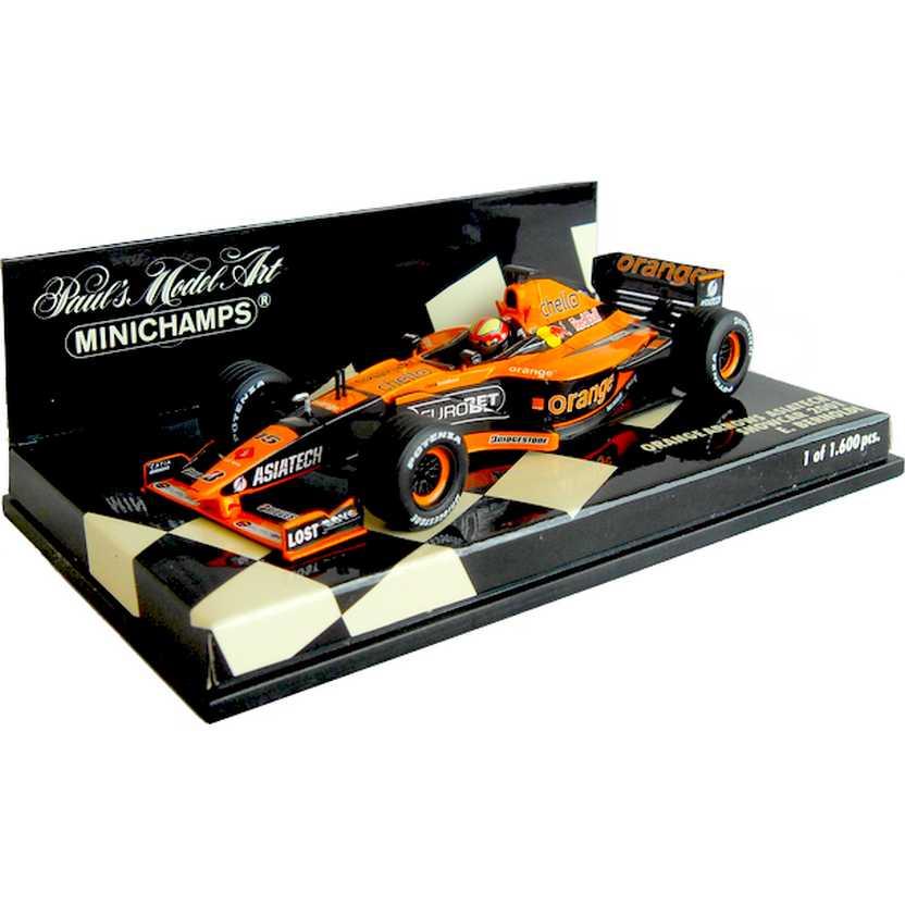 Lendas Brasileiras do Automobilismo Minichamps Orange Arrows Enrique Bernoldi (2001)