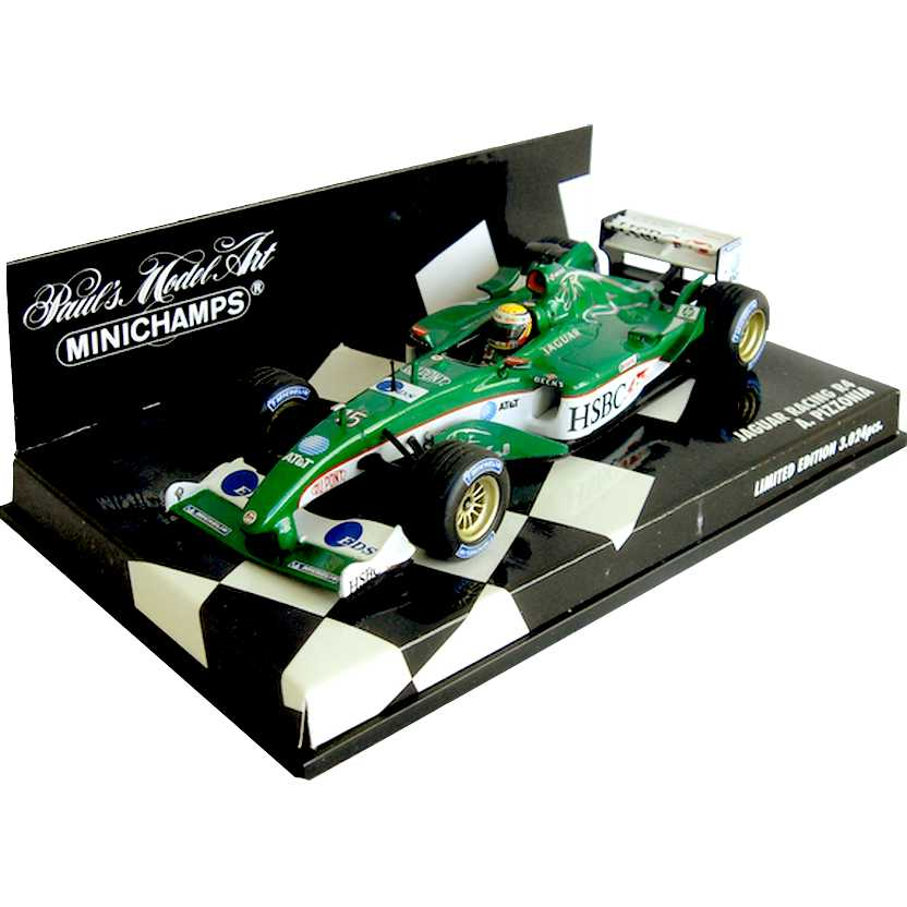Lendas Brasileiras do Automobilismo Minichamps R4 Jaguar Racing Antonio Pizzonia (2003)