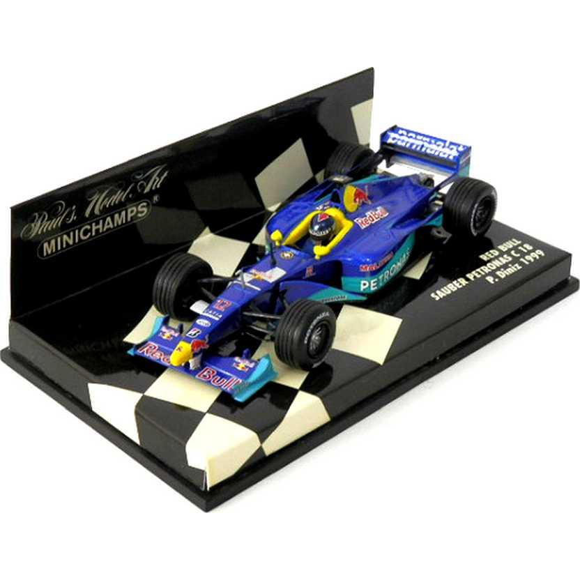 Lendas Brasileiras do Automobilismo Minichamps Red Bull Sauber C18 Pedro Diniz (1999)