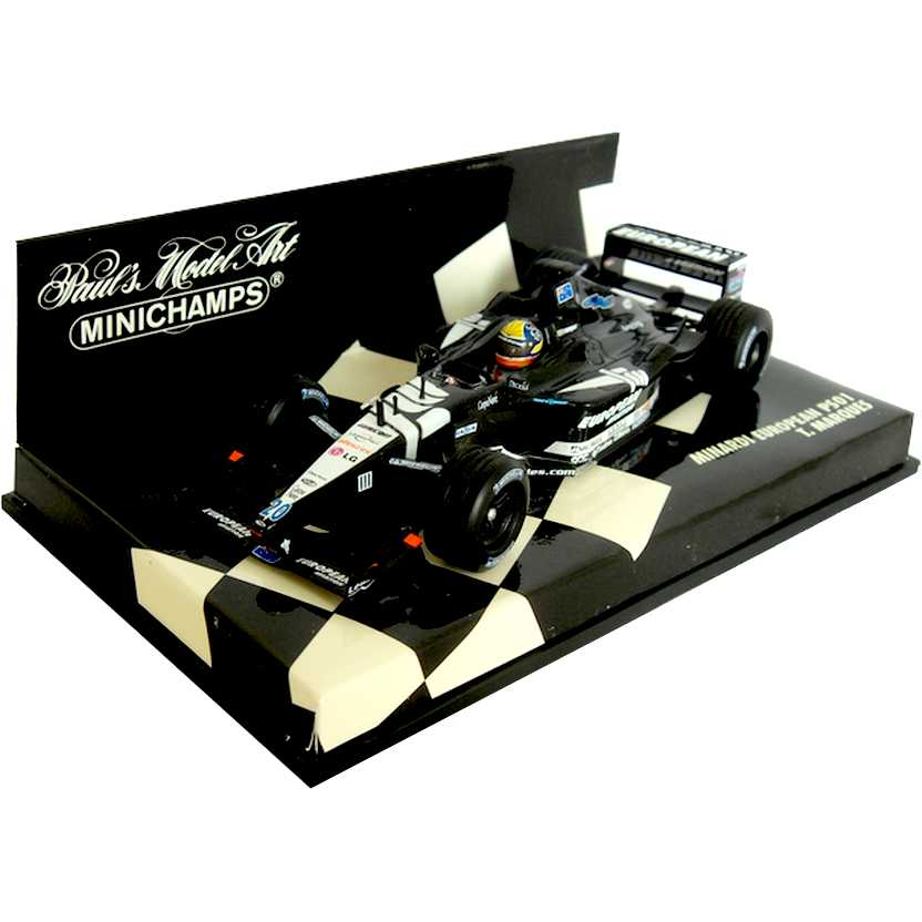 Lendas Brasileiras do Automobilismo PS01 Minardi (2001) Tarso Marques escala 1/43