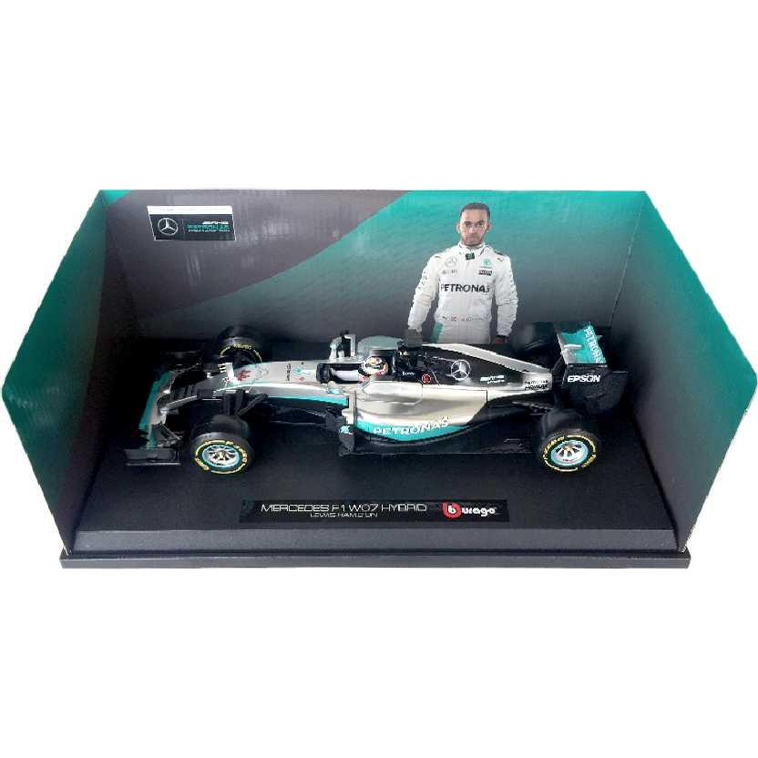 Lewis Hamilton Mercedes F1 W07 Hybrid #44 (2016) Fórmula 1 Bburago escala 1/18