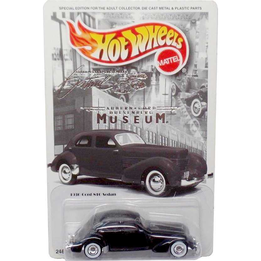 Limited Hot Wheels Auburn Cord Duesenberg Museum 1936 Cord 810 Sedan escala 1/64 24876