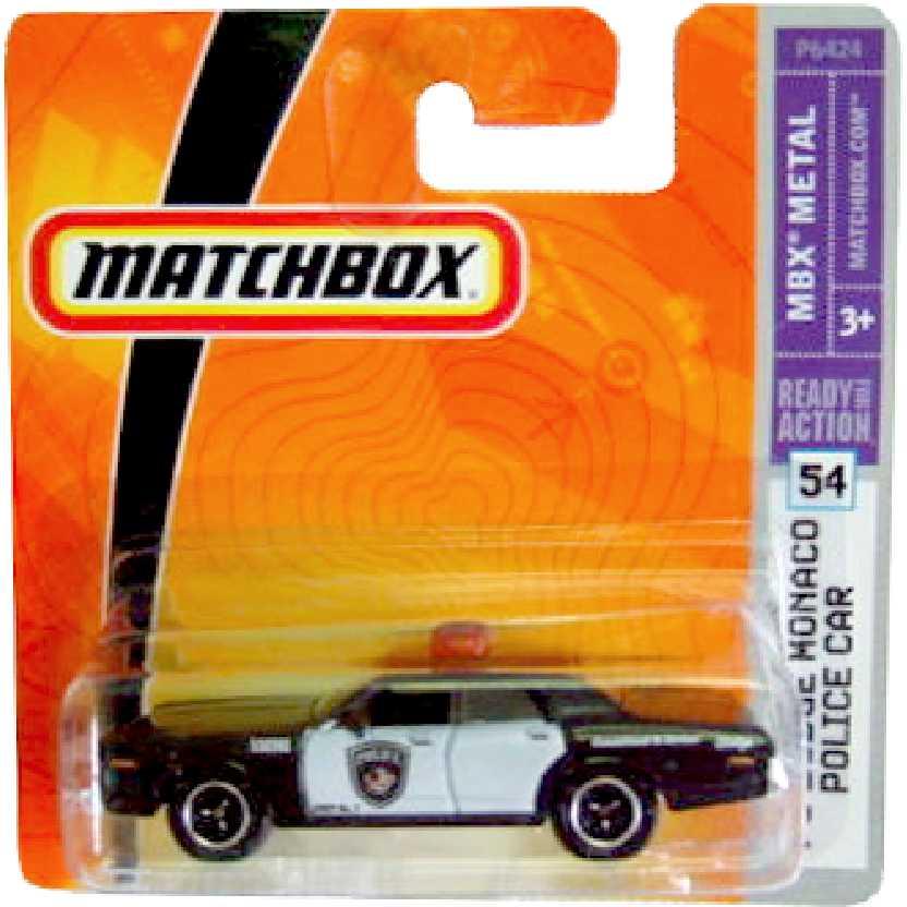 Linha 2008 Matchbox 78 Dodge Monaco Police car #54 P6424 escala 1/64