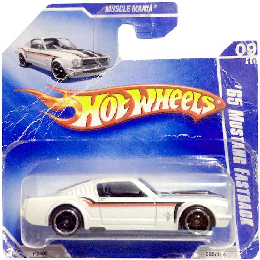 Linha 2009 Hot Wheels 65 Ford Mustang Fastback series 09/10 085/166 P2405 escala 1/64
