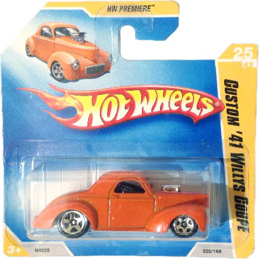 Linha 2009 Hot Wheels Custom 41 Willys Coupe series 25/42 025/166 N4028 escala 1/64