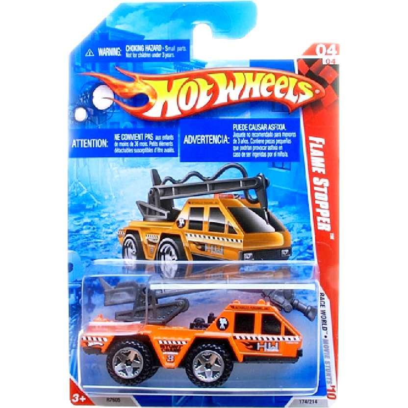 Linha 2010 Hot Wheels Flame Stopper series 04/04 174/214 R7605 escala 1/64