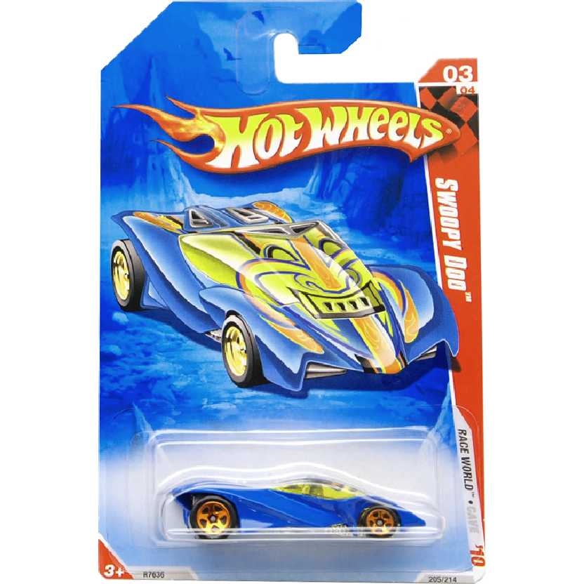 Linha 2010 Hot Wheels Swoopy Doo series 03/04 205/214 R7636 escala 1/64