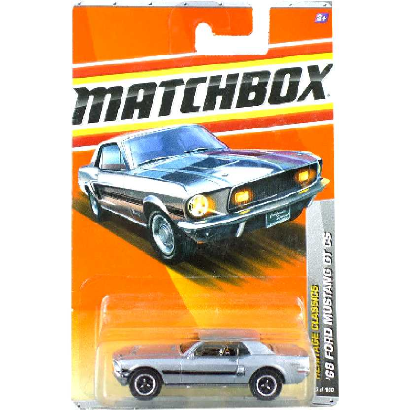 Linha 2010 Matchbox 68 Ford Mustang GT CS 25/100 V0270 escala 1/64