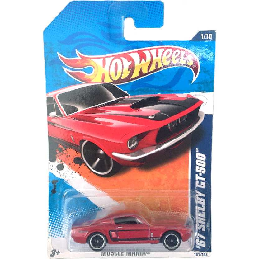 Linha 2011 Hot Wheels 67 Shelby GT-500 series 1/10 101/244 T9808 escala 1/64
