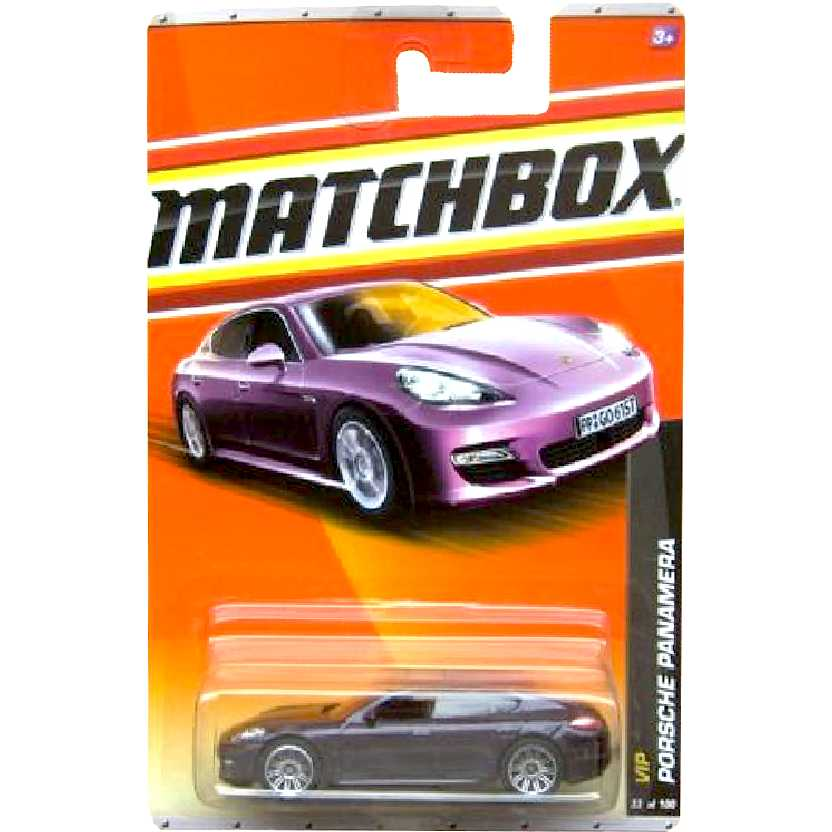 Linha 2011 Matchbox VIP Porsche Panamera 33/100 V0277 roxo metálico escala 1/64