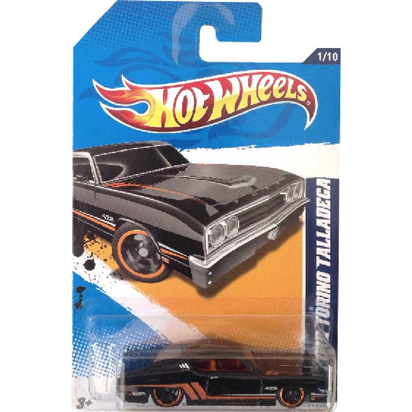 Linha 2012 Hot Wheels 69 Ford Torino Talladega series 1/10 111/247 V5414 escala 1/64