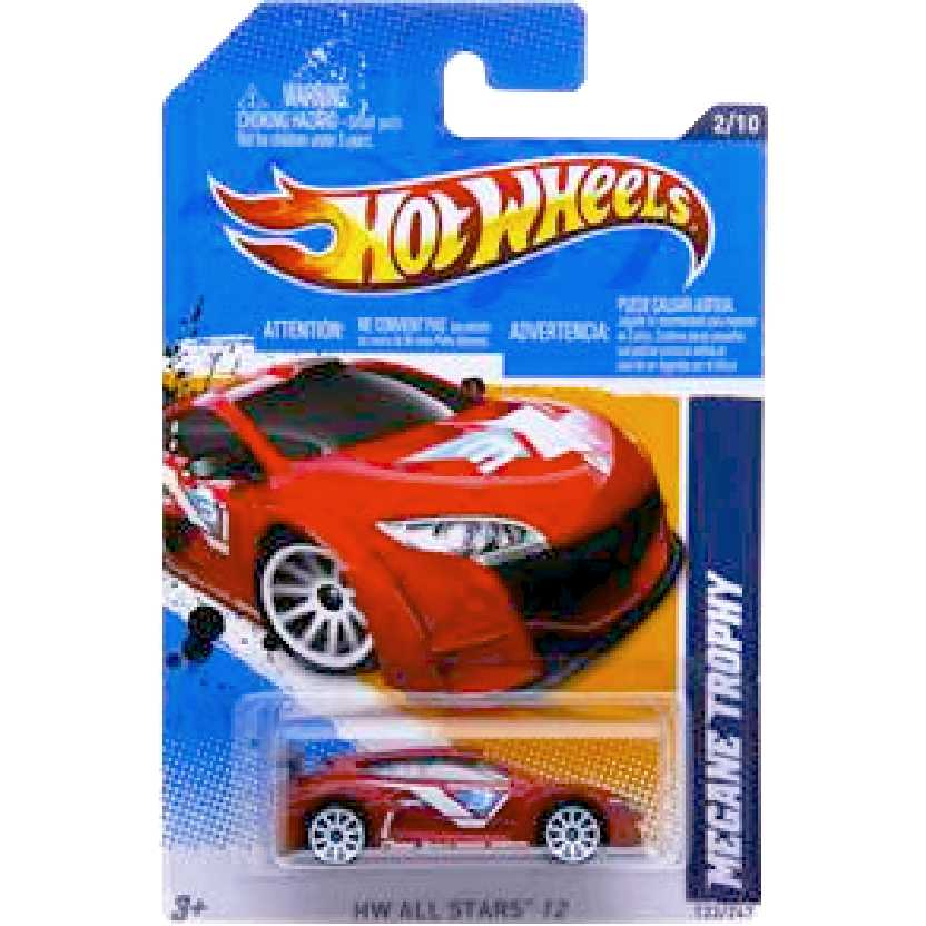 Linha 2012 Hot Wheels Renault Megane Trophy V5629 series 2/10 122/247 escala 1/64