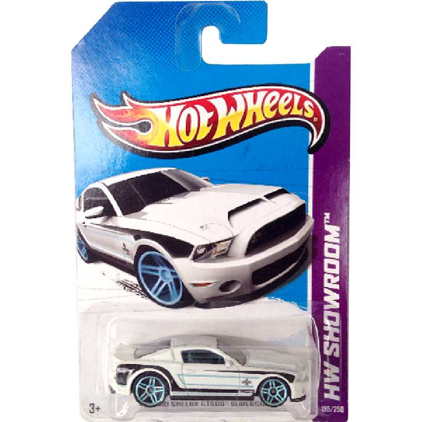 Linha 2013 Hot Wheels 10 Ford Shelby GT500 Supersnake series 155/250 X1954 escala 1/64
