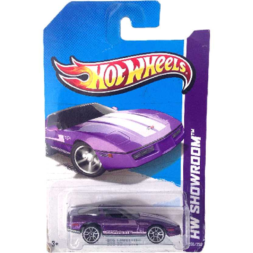 Linha 2013 Hot Wheels 80s Corvette series 206/250 X1820 escala 1/64
