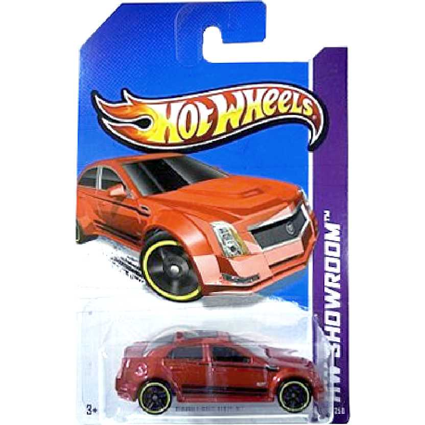 Linha 2013 Hot Wheels Cadillac CTS-V X1780 serie 152/250 escala 1/64
