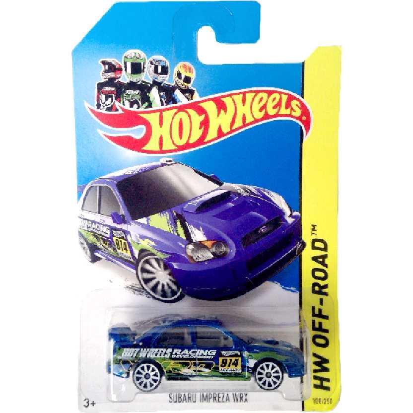 Linha 2014 Hot Wheels Subaru Impreza WRX series 108/250 BFF44 escala 1/64