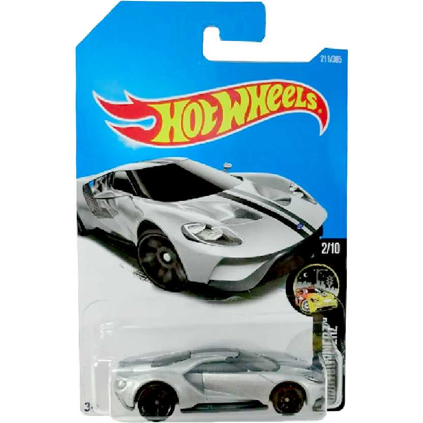 Linha 2017 Hot Wheels 17 Ford GT series 2/10 211/365 DTY76 escala 1/64