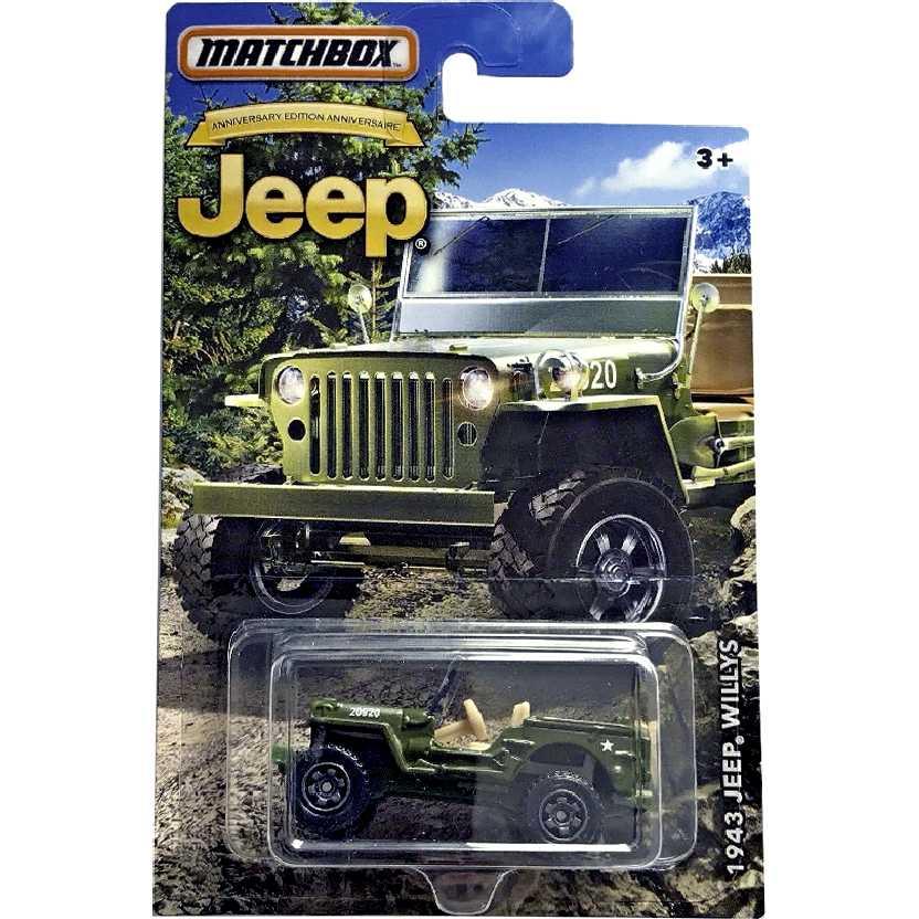 Linha 2017 Matchbox 1943 Jeep Willys DMN28 escala 1/64