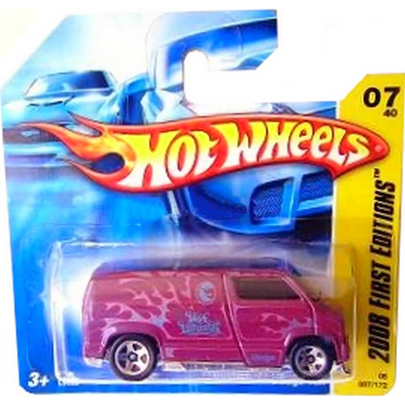 Linha Hot Wheels 2008 Custom 77 Dodge Van roxo L9922 series 07/40 007/172 escala 1/64
