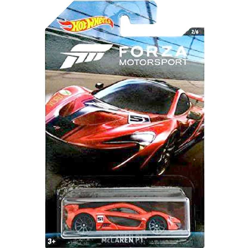 Linha Hot Wheels Forza Motorsport McLaren P1 series 2/6 DWF33 escala 1/64