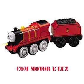 Linha Madeira Thomas Motorizado - James (luz e motor elétrico) anda sozinho