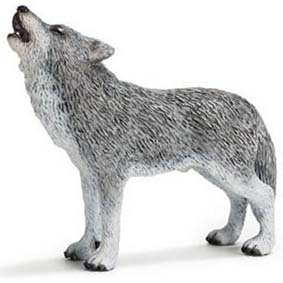 Lobo uivando 14626 (Brinquedo Schleich 2011) Wolf Howling