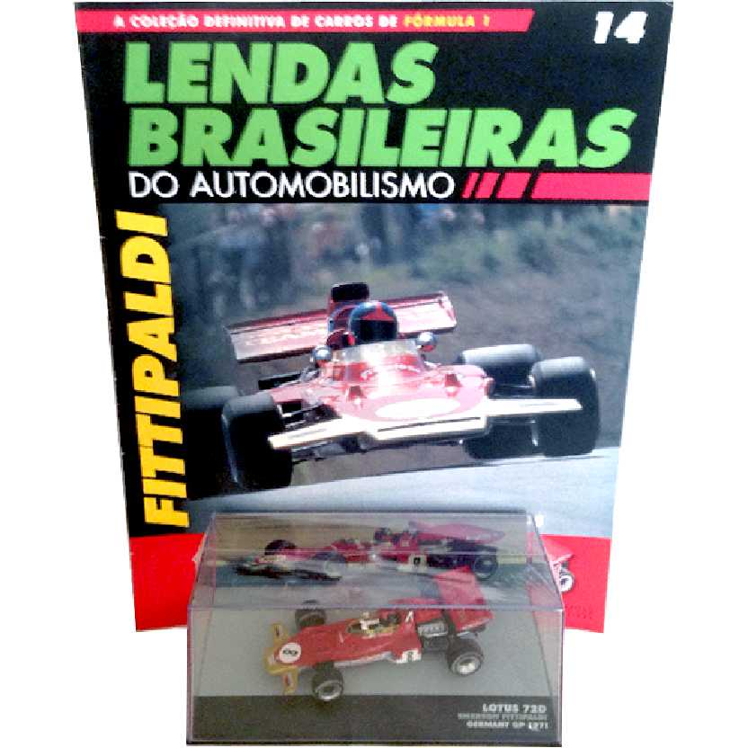 Lotus 72D Emerson Fittipaldi Lendas Brasileiras #14 do Automobilismo escala 1/43