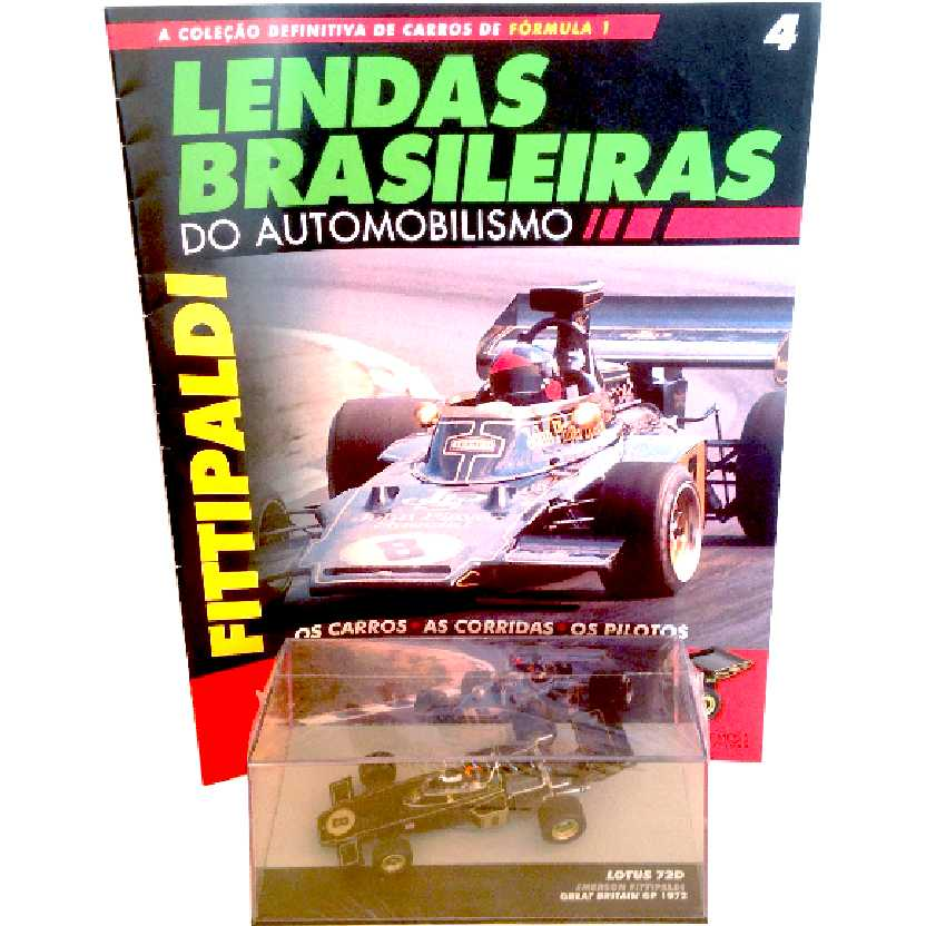 Lotus 72D Emerson Fittipaldi Lendas Brasileiras #4 do Automobilismo escala 1/43