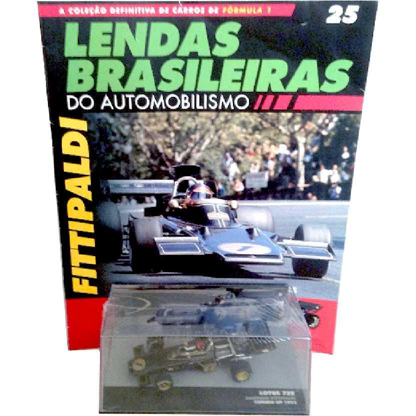 Lotus 72E Emerson Fittipaldi Lendas Brasileiras #25 do Automobilismo escala 1/43